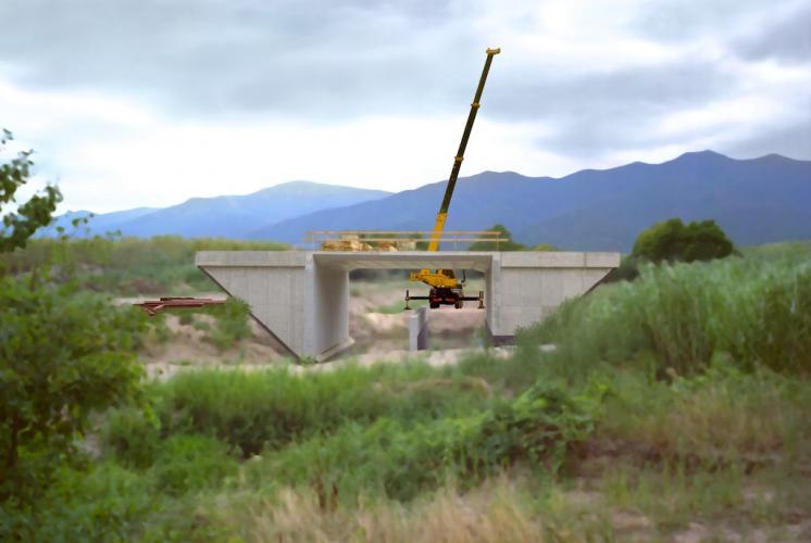 Pont en construction, 2003